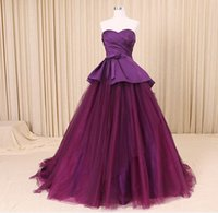 Wholesale Traditional Cheap Wedding Dress - Colorful Wedding Dress Online Cheap Elegant Purple Bridal Wear 2017 Non-traditional Beautiful Wedding Gowns Vestidos de Novia