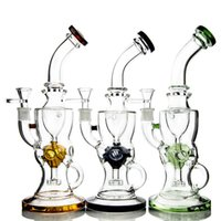 Wholesale Hot Bend Pipe - Hot!Fab Egg Style Smoking Glass Bong Internal Recycler Glass Water Bongs With Showerhead Perc 14.5mm Joint Water Pipes WP280