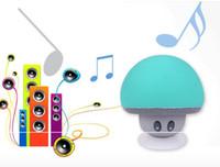 Wholesale Mini Silicone Bluetooth Speaker - BT280 lovely mini mushroom Mp3 Car speaker subwoofer Bluetooth wireless speaker silicone sucker phone tablet computer stand