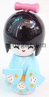 Новые 10шт 9см KOKESHI DOLLS JAPANESE WOOD CARVED GEISHA SMALL Doll