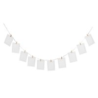 Wholesale Hanging Rope Frame - 10pcs DIY 6inch Hanging Album Clip Kraft Paper Photo Frame Strings Rope Clips Sets for Wedding Decoration Garland (White)
