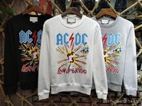 Wholesale White Dc Shirts - 2017 Men AC DC BLOWUP YOUR VIDED Printing Top Sweatshirts Long Sleeve hoodie Shirts Brand New gray size M-XXL