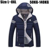 Wholesale 7xl Winter Coats - Wholesale- 6XL 7XL 8XL Thick Winter Jacket Men 2016 Brand-Clothing Men's Warm Down Parka Jacket Outerwear Coats Windbreaker Men