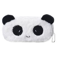bolsa de cosméticos panda al por mayor-Al por mayor-Kids Cartoon Pencil Case Plush Large Pen Bag Maquillaje cosmético Cartoon Storage Bag panda