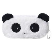 çocuklar makyaj çantaları toptan satış-Toptan-Çocuklar Karikatür Kalem Kutusu Peluş Büyük Kalem Çantası Kozmetik Makyaj Karikatür Saklama Çantası panda