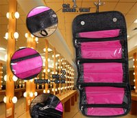 Wholesale Makeup Bag Bow - ROLL-N-GO NEW arrival cosmetic bag Multi-function fashion women makeup bag hanging toiletries travel kit jewelry organizerTA133