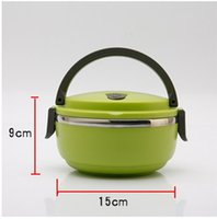 Wholesale ccheapest stainless steel fast food lunch box Large capacity two people Heat preservation lunch box
