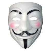 trajes do dia das bruxas caras venda por atacado-Nova festa de fantasia de máscara de Halloween Cosplay Halloween Party Guy Fawkes V FOR Vendetta Anônimo Decoração de máscara de festa para adultos Free 1000pcs