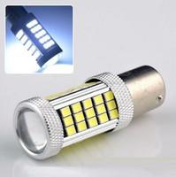 Wholesale Led Light Bulb 1157 - High Power 35W White Led1156 1157 T20 63SMD 2835 Chip Auto Car Brake Bulb Lamps Fog Lamp 12V Car Light Source