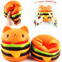 Wholesale Original Decor - Squishys Cat Burger Slow Rising Soft Animal Collection Gift Decor Toy Original Packaging
