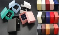Wholesale Cheap Boxes Hair - Wholesale Jewelry Cases Display Cardboard Necklace Earrings Ring Bracelet Hair Accessory Box Sets Packaging Cheap Sale Gift Box with Sponge
