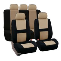 Wholesale Fitted Car Mats - Universal Fit Car Seat Cover Set 9 pc Cloth Seat Interior Protector Pad Mat With Fit Most Auto