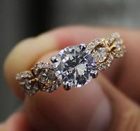 Wholesale Egl Diamond Rings - 18K Rose Gold 2.05 Ct Round Cut & Marquise Diamond Engagement Ring H,SI2 EGL