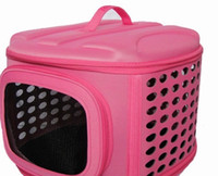 Wholesale EVA Outdoor portable Dog Carrier zipper Dog Supplies Cat Carrier cylinder Pet Bag Multicolor Pet Products