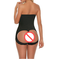 Wholesale Panty Enhancer - Sexy women's butt lift shaper butt lifter boyshort butt enhancer panty booty lifter with tummy control underwear Shapewear