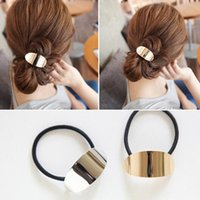 Wholesale Hair Ponytail Holders Jewelry - New Arrival Personality Alloy Metal Hair Band Elastic Punk Ponytail Holder Metal Headpiece Wholesale Hair Jewelry for Women