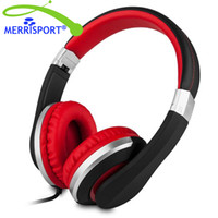 Wholesale Tablet Pc Wires - Wired Headphones with Mic Foldable Headsets for iPhone, All Android Smartphones, PC, Laptop, Mp3 mp4 Player, Tablet Macbook Black MERRISPORT
