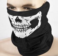Wholesale Cooling Bandanas - Cool Men Skull Bandana Bike Camouflage Tube Neck Face Mask Headscarf Sport magic Headband Pick Skull Print Bandanas 77