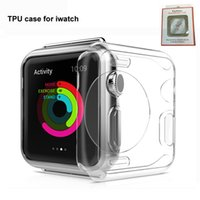 Wholesale apple watch case - Full Coverage TPU Soft Silicone Case Crystal Cover For Apple Watch Iwatch mm mm Ultral Clear FOr iwatch Series