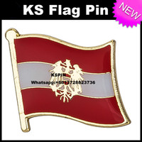 Wholesale Austria Pin - Austria Flag Badge Flag pin 10pcs a lot Free shipping 0001
