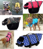 Wholesale Swims Coat - Pet Dog Life Jacket Safety Clothes for Pet Puppy Life Vest Outward Saver Swimming Preserver Large Dog Clothes Summer Swimwear