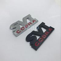 Wholesale Personalized Mustang - 1Pcs SVT Cobra Car Trunk Lid Metal Emblem Badge For Ford 1999 - 2002 Mustang Nameplate Sticker