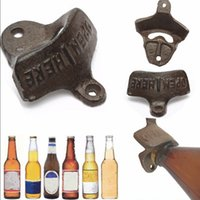 tapa de la barra de tapa de cerveza al por mayor-Vintage Antique Style Bar Pub Beer Top Bottle Cap Opener Cocina de montaje en pared MD1337