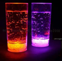 SLONGLIGHT Plástico LED Ilumina Highball Glass 450ml, LED Flash Drink Juice Cup Copa para Fiesta / Bars WITH BATTERY MYY