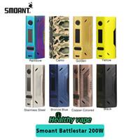 Wholesale Rainbow Electronic - Battlestar new colors Original Smoant Battlestar Box Mod 200W TC Box Mod Rainbow color Electronic Cigarette Vape Mod