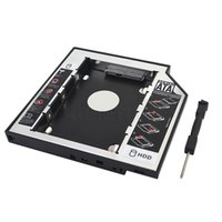 Wholesale sata laptop hd online - Hot SATA to SATA plastic nd SSD HDD HD Hard Disk Driver Caddy mm External Case for CD DVD DVD ROM Optical Bay for Laptop