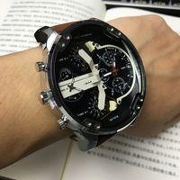 Wholesale Dz Watch Box - 3 Style Sport Men Watches with Box Brand Luxury watch Calendar Big Dial Quartz Watch DZ Leather Wristwatches For Male All Subdial Work