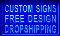 Wholesale Home Design Colors - LS001-b design your own custom Light sign hang sign home decor shop sign home Decor Free Shipping Dropshipping Wholesale 6 colors to choose