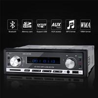 handy-tuner großhandel-Wholesale- 12V Stereo Bluetooth Auto Audio MP3-Player USB FM Radio Tuner SD AUX Media Player Hand-frei mit Mikrofon Handy-Lade