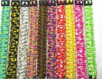 1000pcs 2017 новых цветов смешивания вы выбираете Self-rescue Paracord Parachute Cord Bracelets Survival bracelet Camping Travel Kit