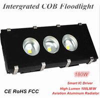 Wholesale Saving Gas - High Power Factor 180W Outdoor LED Floodlights Intergrated COB Flood Lamp Energy Saving for Highway Square and Gas Station Lighting IP65