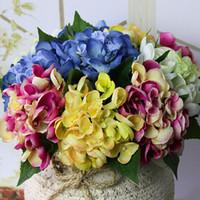 Wholesale Diy Wholesale Party Decor - Wholesale- 2016 Hot Yellow Faux Artificial Silk Floral Flower Home Party Restaurant Floral Decor Hydrangea Craft Art DIY