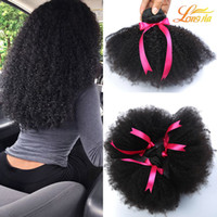 Wholesale Cheap Unprocessed Curly Human Hair - Brazilian Afro Curly Human Hair Unprocessed Brazilain Afro Kinky Curly 4Bundles Cheap 8A Malaysian Peruvian Virgin Human Hair Weave 1B