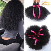 Wholesale Cheap Wholesale Curly Weave - Brazilian Afro Curly Human Hair Unprocessed Brazilain Afro Kinky Curly 4Bundles Cheap 8A Malaysian Peruvian Virgin Human Hair Weave 1B