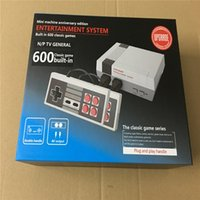Wholesale Free Classic Pc Games - 2017 Stock!!! MINI - game MINI - classic TV game console, European version of FC red white machine built in 600 pcs games DHL Free shipping