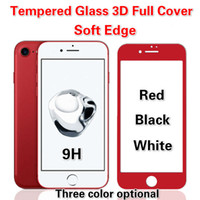 Wholesale Colorful Screen Protector 3d - For Iphone 6S 7 Plus 3D Tempered Glass Full Cover Screen Protectors For Galaxy J7 J5 Prime A3 A5 A7 2017 Colorful Soft Edge Film