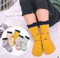 Wholesale Korea Set Girl - 5 Pair Pack Kids Socks Set Winter Cartoon Cotton Warm Plaid Baby Socks Unisex Boys Girls Ankle Socks Korea Cheap Sock Top Quality