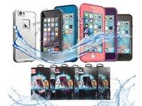 fre для iphone оптовых-2018 горячая распродажа чехол Life Water доказательство чехол для iPhone X 6 6 s iphone 7 7 plus fre водонепроницаемый чехол розничная упаковка бесплатная доставка
