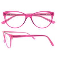 Wholesale Eye Glasses Temple - dropshipping china bulk buy 7 colors oval acetate fine full rim spring hinge wrinkle temple decoration eye glasses