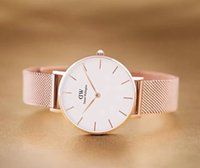 Wholesale Womens Gold Bracelet Watches - 2017 New dw watches Women 32mm Daniel Wellington stainless steel watch rose gold fashion watch bracelet quartz wristwatch womens