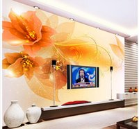 Golden Peony Pattern Rich Auspicious Background Wall Mural 3d Wallpaper 3d  Wall Papers For Tv Backdrop On Sale