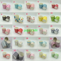 Wholesale Muffin Cases Free Shipping - Free shipping 2000pcs Large Round MUFFIN Paper CakeCup Cake case Muffin Cups Red and White Stripe