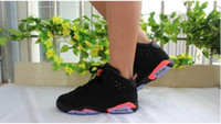 Wholesale White Sneakers Low Price - 2017 retro 6 black white infrared low chrome Oreo wholesale price basketball shoes sneakers 2016 men women US size 5.5-13