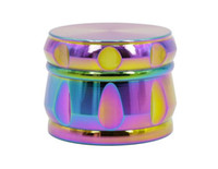 Wholesale Wholesale For Spice Grinder - Colorful Grinders For Smoking Tobacco 63MM 4Layers Rainbow CNC Alloy Zinc Crusher Grinder Herb Smoking Spice Cracker Free DHL