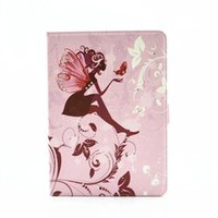 Wholesale Bling Ipad Case Stand - The Butterfly - loving - flower Flower Fairy Girls Bling Bling Crystal Folio Leather Case Skin with Stand for ipad pro 9.7 ipad Pro 12.9