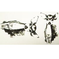 Wholesale Baby Temporary Tattoos - Wholesale- 10x6cm Temporary Small Cute Fashion Tattoo Baby Deer